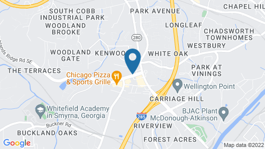 InTown Suites Extended Stay - Atlanta GA Smyrna Map