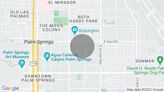 2 Bedroom Palm Springs Condo Map