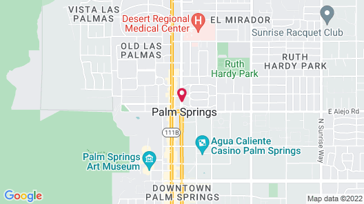 Colony Palms Hotel Map
