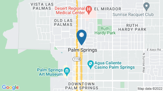 The Colony Palms Hotel and Bungalows Map