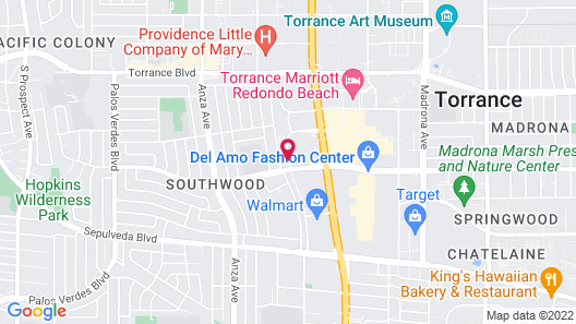Extended Stay America Suites Los Angeles Torrance Del Amo Ci Map