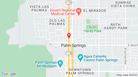 Alcazar Palm Springs Map