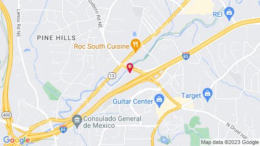 DoubleTree by Hilton Atlanta - Emory Area Map