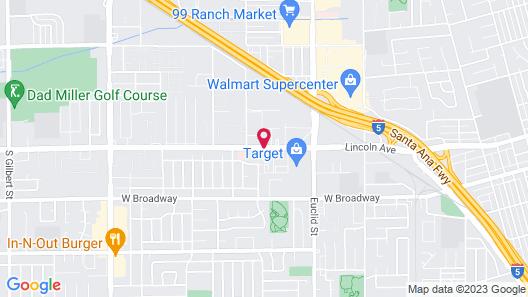 Anaheim Executive Inn & Suites Map