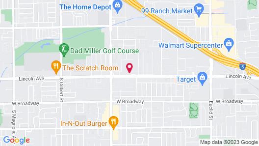 Parkside Inn Anaheim Map