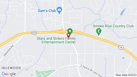 Hampton Inn Atlanta Stone Mountain Map