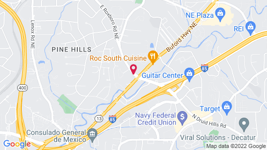 Hampton Inn Atlanta - North Druid Hills Map