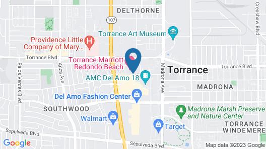 Torrance Marriott Redondo Beach Map