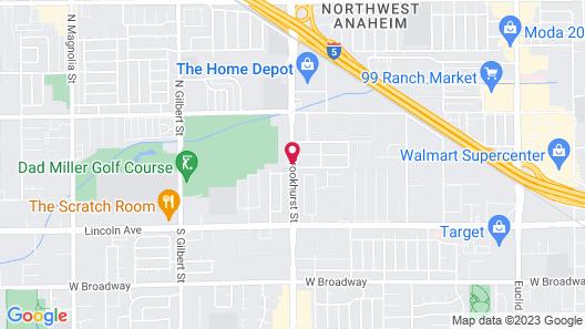 Kona Inn Motel Anaheim Map