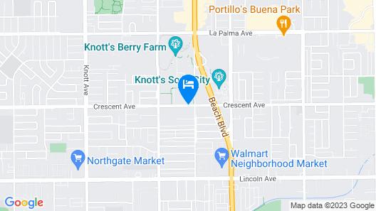 Knott's Berry Farm Hotel Map