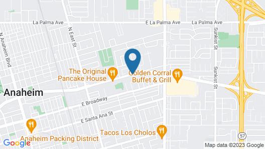 Lemon Tree Hotel & Suites Anaheim Map