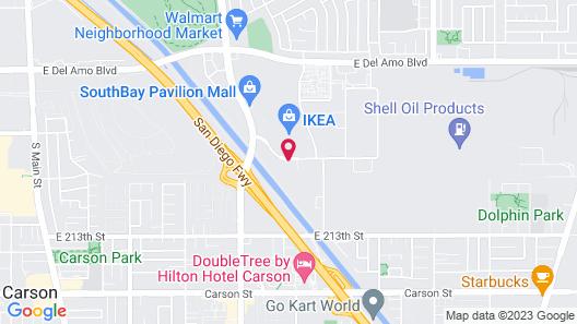 Motel 6 Carson, CA Map