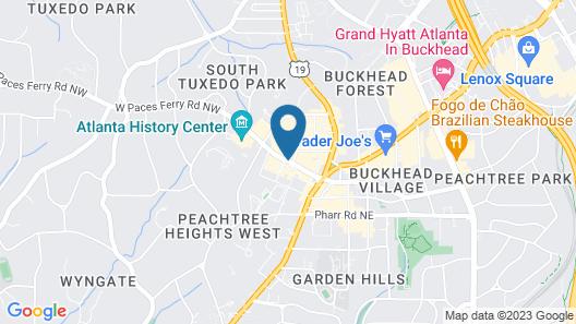 The St. Regis Atlanta Map