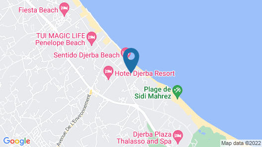 Hasdrubal Thalassa & Spa Djerba Map