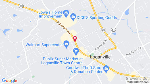 Quality Inn Loganville US Highway 78 Map