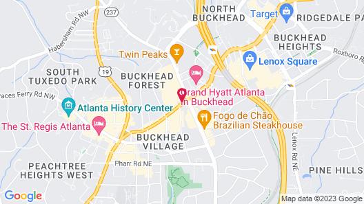 Hyatt Place Atlanta/Buckhead Map