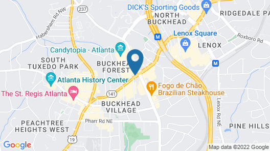 Hyatt Place Atlanta/Buckhead Map
