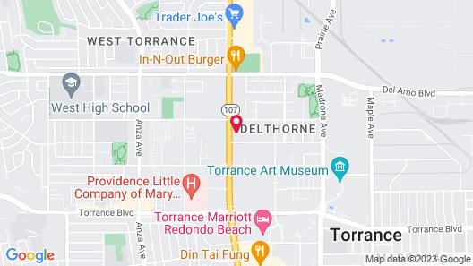 Del Amo Inn Map
