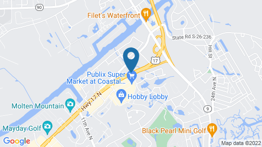 Quality Inn & Suites North Myrtle Beach Map