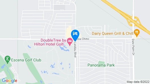 DoubleTree by Hilton Hotel Golf Resort Palm Springs Map