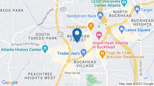 Cozy family-style Buckhead Bungalow Map