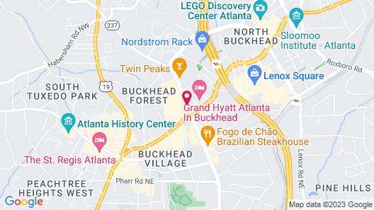 Hampton Inn & Suites Atlanta Buckhead Place, GA Map