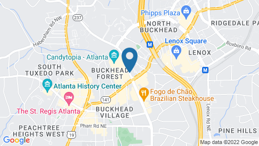 Hampton Inn & Suites Atlanta Buckhead Place, GA Map