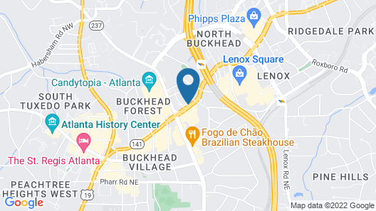 Grand Hyatt Atlanta in Buckhead Map