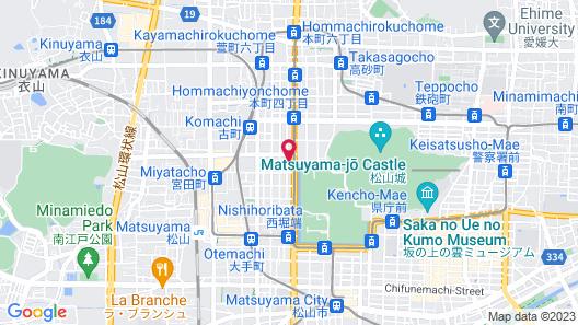APA Hotel Matsuyamajyo-Nishi Map