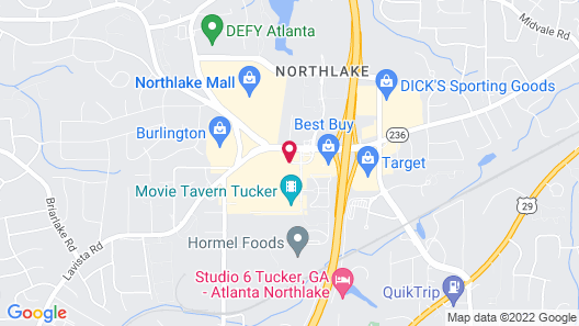Courtyard by Marriott Atlanta Northlake Map