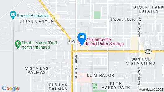 Margaritaville Resort Palm Springs Map