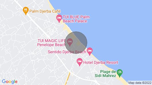 Villa With Swimming Pool IN Djerba Penelope B20 Map