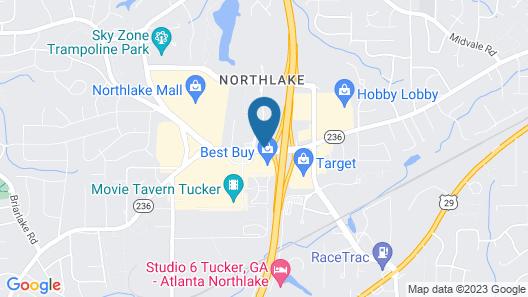 DoubleTree by Hilton Atlanta - Northlake Map