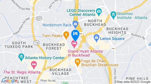 Courtyard by Marriott Atlanta Buckhead Map