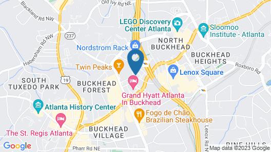 Hilton Garden Inn Atlanta-Buckhead Map