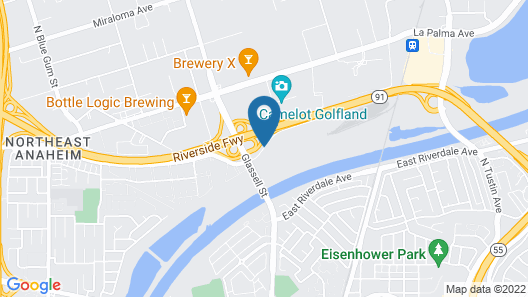 Embassy Suites Hotel Anaheim-North Map