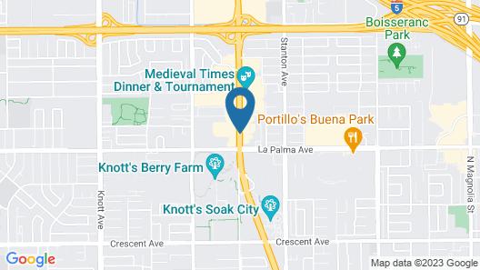 Rodeway Inn Near Maingate Knott's Map