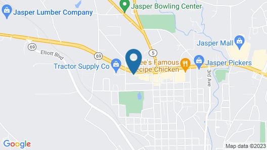 Budget Inn Jasper Map