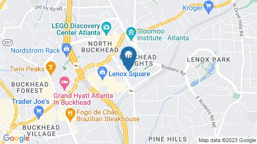 Atlanta Marriott Buckhead Hotel & Conference Center Map