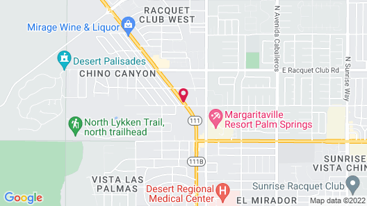 The Palm Springs Hotel Map