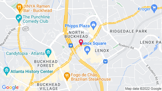 The Westin Buckhead Atlanta Map
