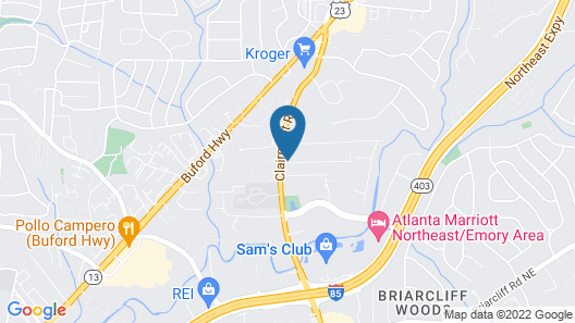 Extended Stay America Suites Atlanta Clairmont Map