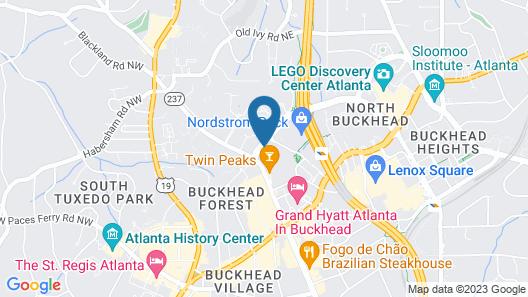 SpringHill Suites by Marriott Atlanta Buckhead Map