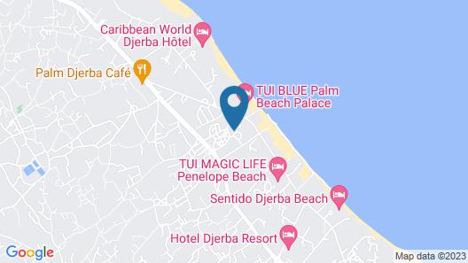 Hotel Fiesta Beach Djerba Map