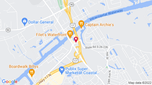 Hampton Inn Harbourgate Map