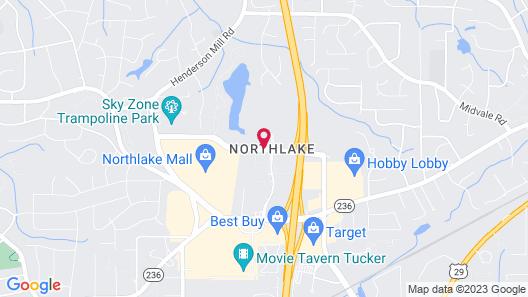 Hampton Inn Atlanta-Northlake Map