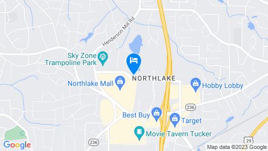 Extended Stay America - Atlanta - Northlake Map