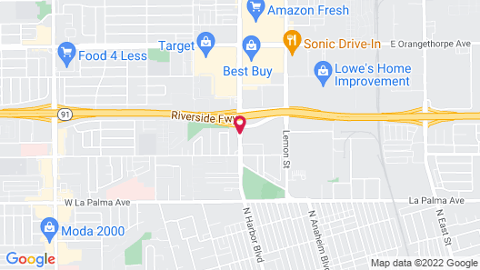 Studio 6 Anaheim, CA Map