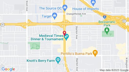Courtyard by Marriott Anaheim Buena Park Map