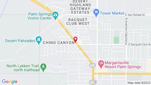 Inn at Palm Springs Map